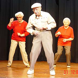 Seniors Dancing on Celebrity Cruise Ship