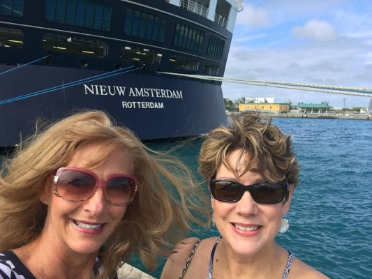 Happy Women on Cruise