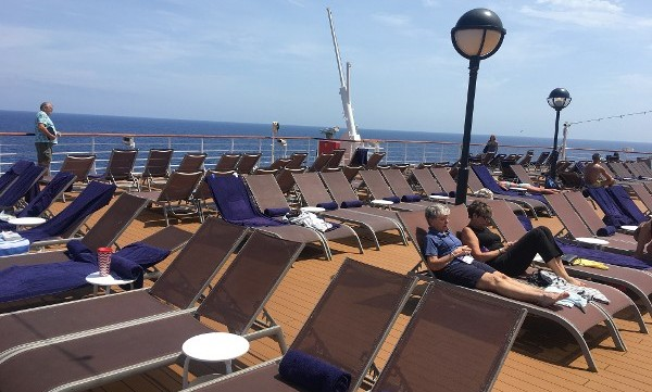 Sunbathing on Deck