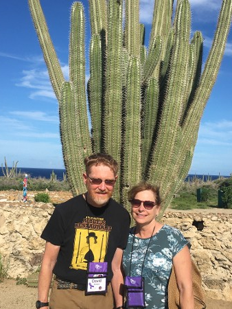 Couple in Front of Cactus